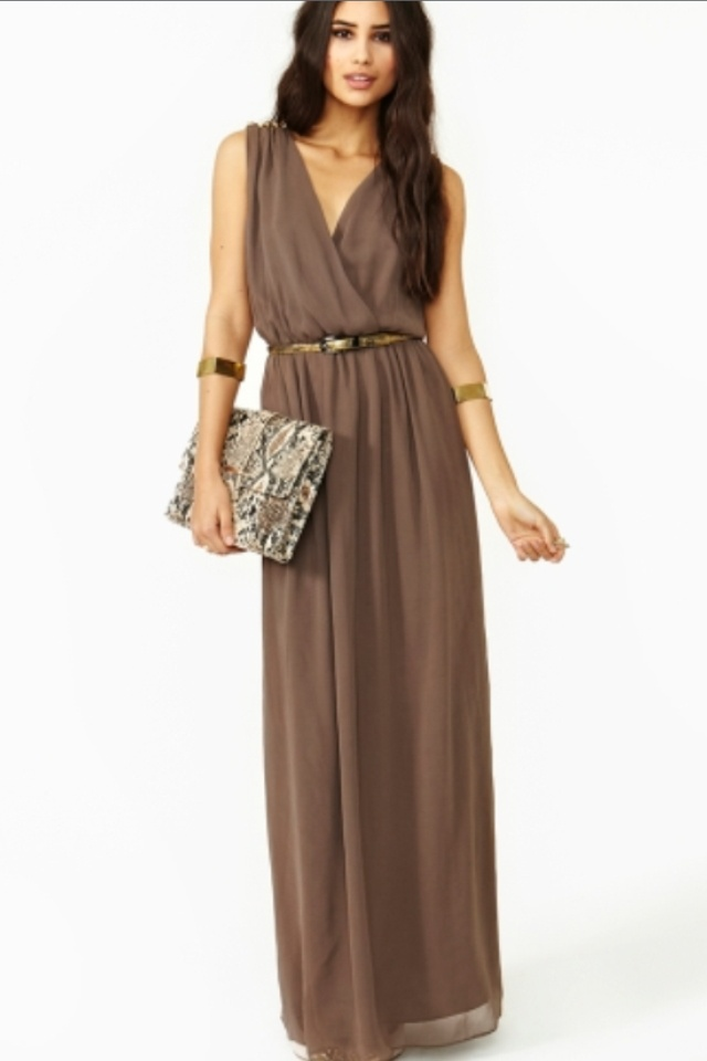 Best 25 brown maxi dresses ideas on pinterest brown for Brown dresses for wedding guest