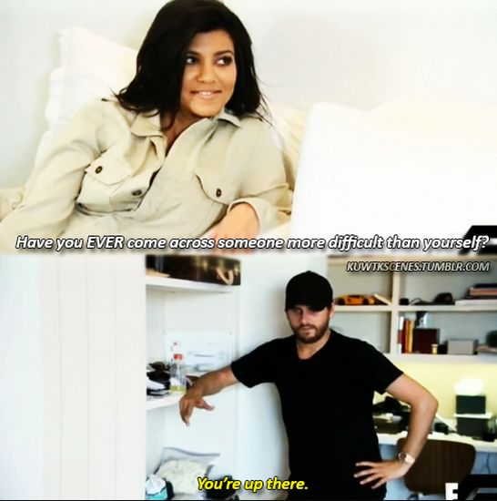 And this one to Kourtney. | 32 Times Scott Disick Just Didn't Give A F*ck