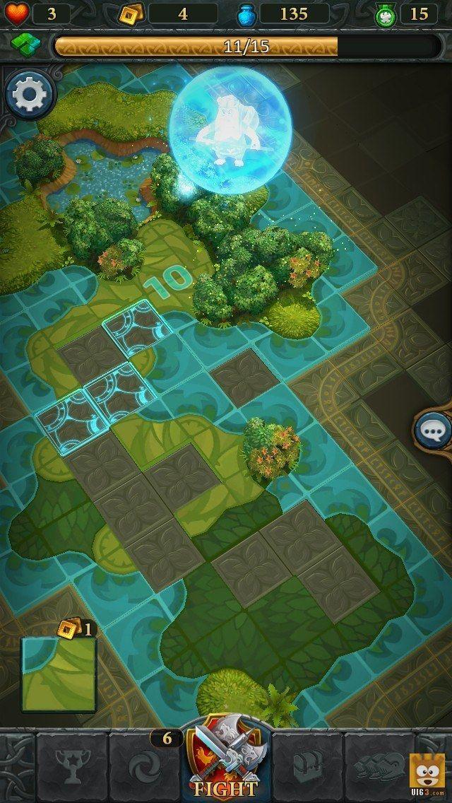 卡牌策略《苍穹霸主》UI游戏界面