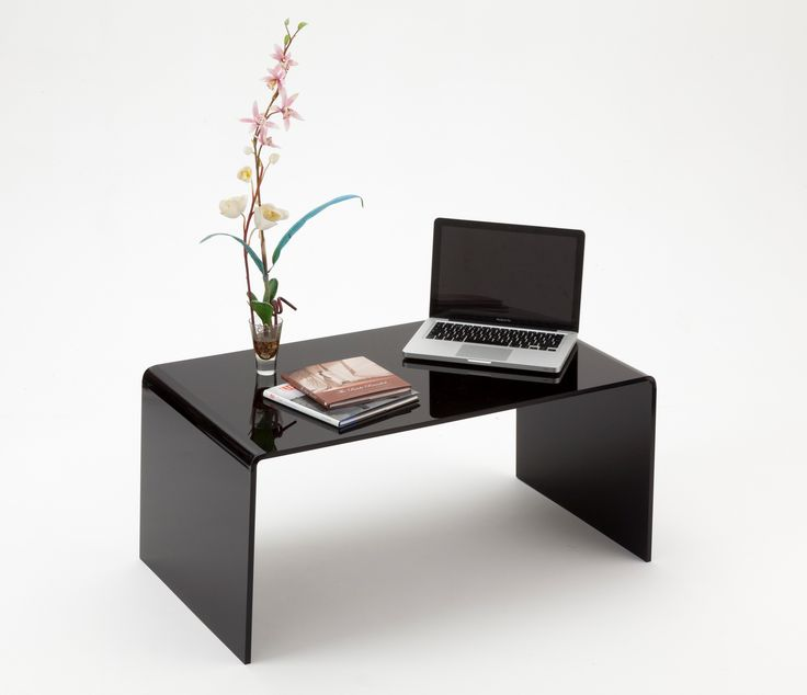Black Lucite Coffee Table