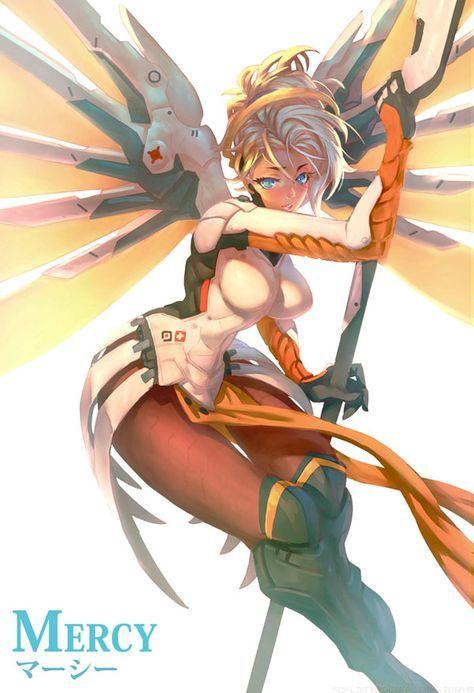 """overwatch-fan-art: """" Mercy in the Sun by JetEffects """""""