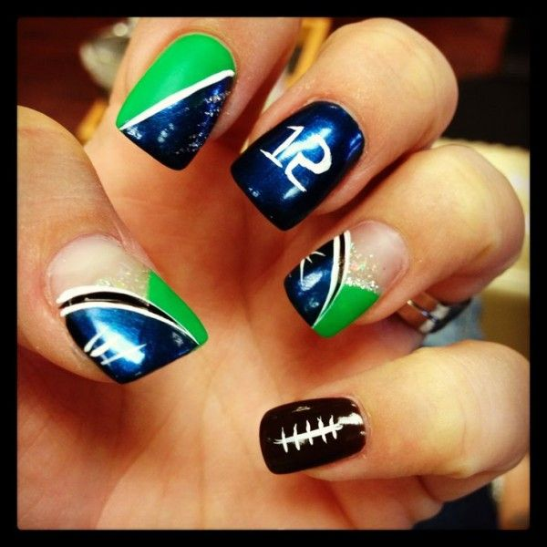 9 best seattle seahawks nails images on pinterest seahawks nails creative ladies football nail art is quite the trend and an interesting way of showing your support for a particular team or player prinsesfo Gallery