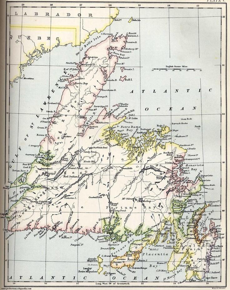 Map of Newfoundland 1884