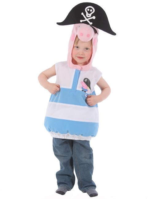 Costume bimbo George Peppa Pig per bambini dai 3 ai cinque anni.  100% Merchandise ufficiale  Perfetto per feste in maschera. Comodo da indossare, gilet con chiusura in velcro (pantaloni non inclusi). Si pulisce con un panno umido