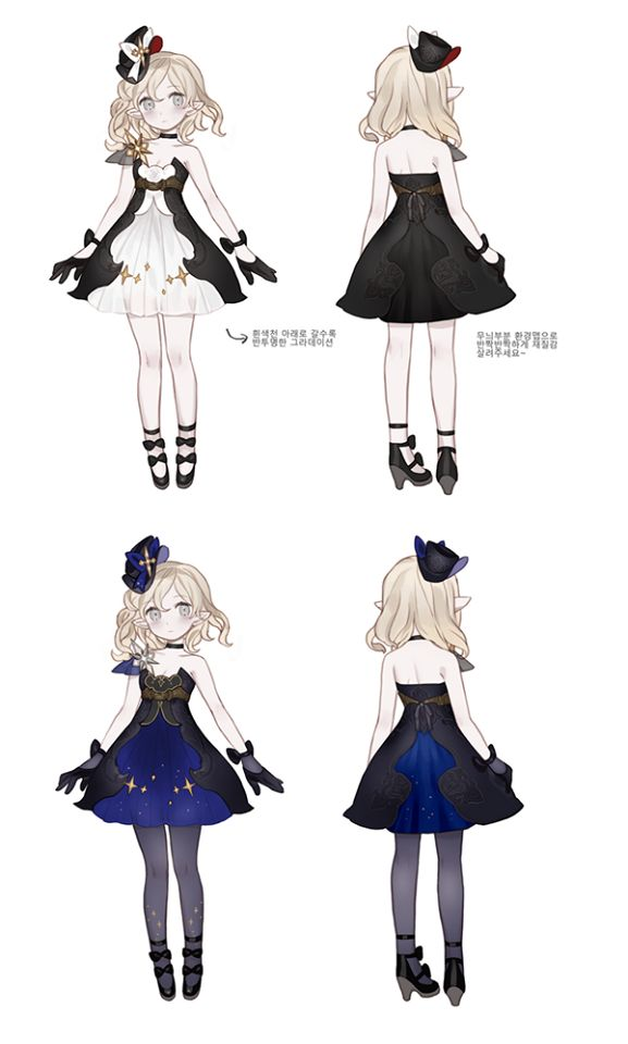 服装 ( 晚礼服 ) : 单肩 , short dress , black , dark blue , white , stars