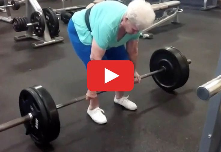 She even holds the state record for her age group!  https://greatist.com/live/watch-badass-grandma-deadlift-like-a-pro