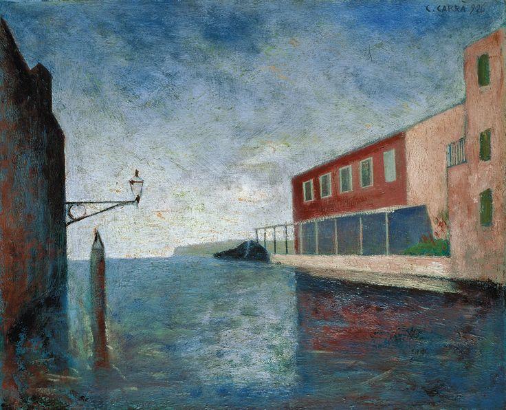 Carlo Carrà - Canal in Venice.