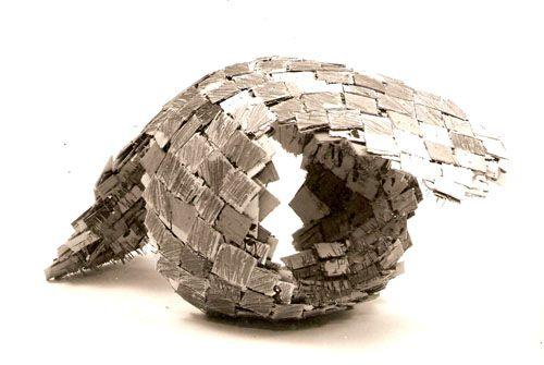 Herman Makkink | bridge 1983, 50x75x50, broken, stapled, glued ply and pencil, Stedelijk Museum A'dam