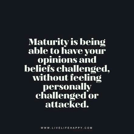 It seems there is a great lack of maturity, responsibility