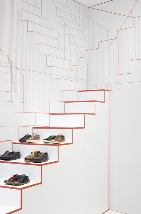Dutch designers Studio Makkink & Bey have completed a store for shoe brand Camper in Lyon with staircases that seem to go on forever.