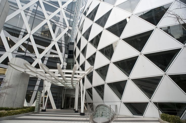 ... , Tokyo, Japan. Right triangle and rhombus design on building