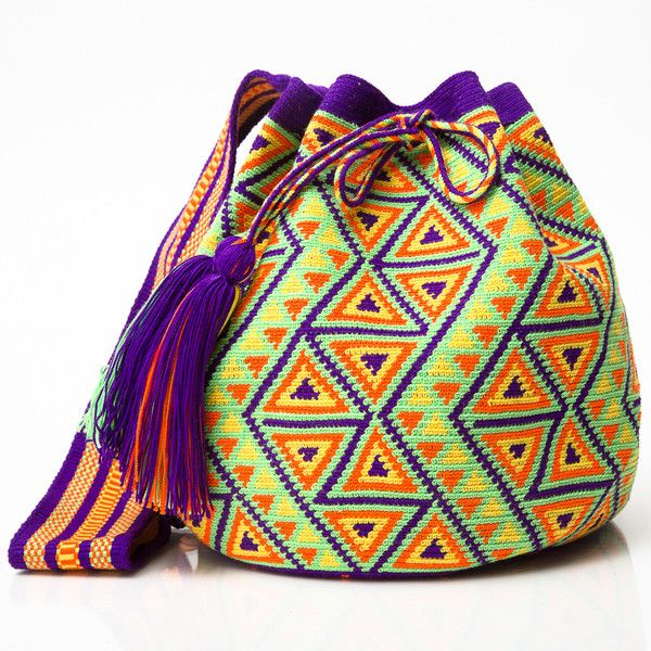 "WAYUU TRIBE. AUTHENTIC HANDMADE MOCHILA BAGS |The Wayuu (pronounced ""Wah-You"") people are indigenous Latin American's inhabiting the desert of La Guajira Peninsula bordering Colombia & Venezuela. A matrilineal clans, the Wayuu carry their mother's last name, making the women the center of the family & cultural leaders. Each mother teaches her daughter to weave & crochet, keeping the tradition as alive and vibrant. To the Wayuu, weaving is a symbol of wisdom, intelligence, and creativity."