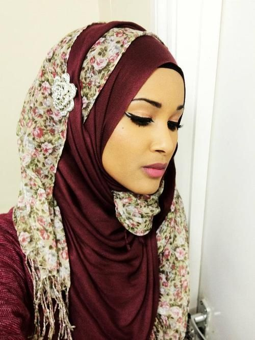 Stylish Hijab With Crystals   SCANFREE