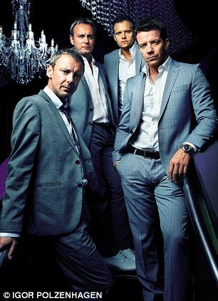 John Simm, Philip Glenister, Marc Warren and Max Beesley