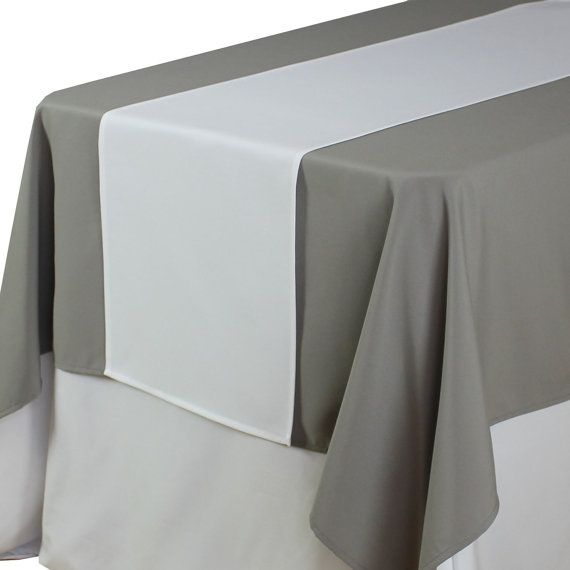 White Table Runner 14 X 108 inches | Matte White Table Runners for Weddings, Wholesale Table Linens