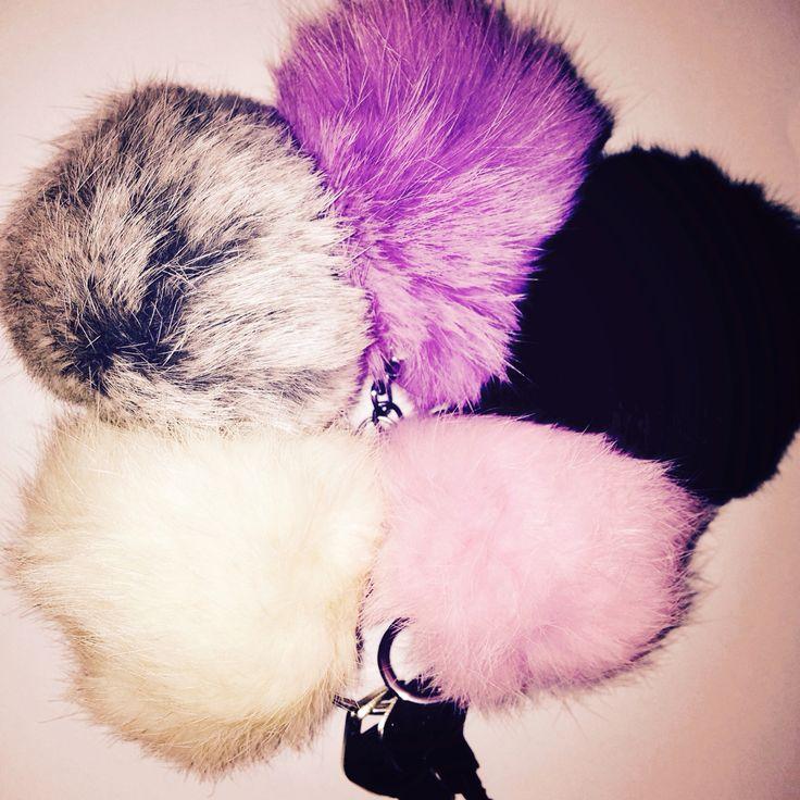 Fluffy fur pompom keyrings/ bag charms now £5. www.Etsy.com/shop/acuriousfairytale