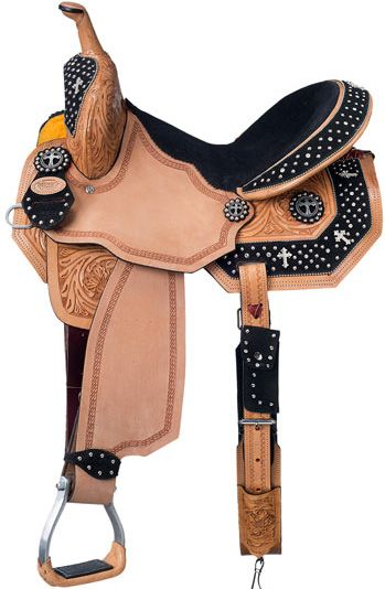 Silver Royal Desert Faith Barrel Saddle | ChickSaddlery.com