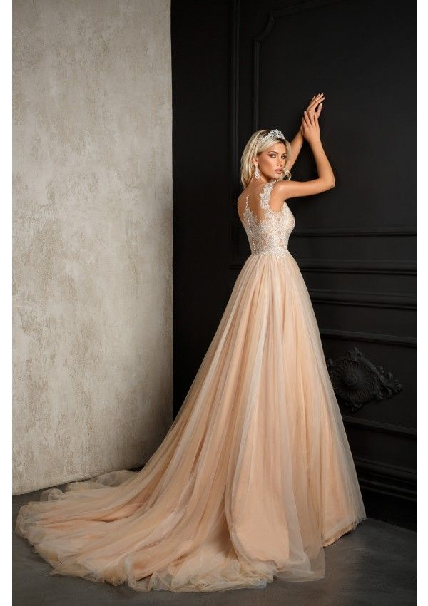 One Kiss Pink Powder Dark Ivory Wedding Dresses In 2018 Pinterest First And