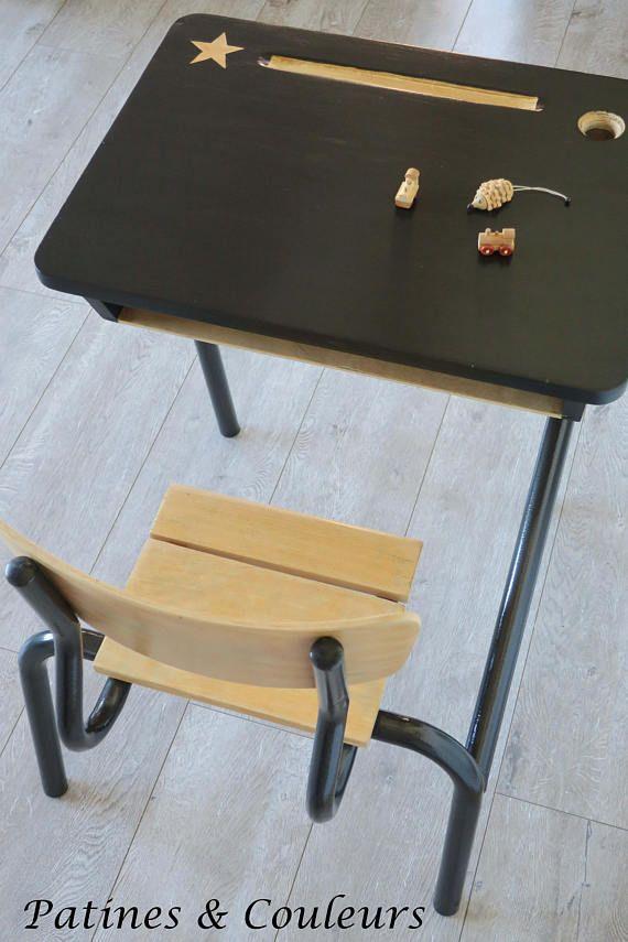 les 25 meilleures id es de la cat gorie pupitre colier sur pinterest bureau ecolier ancien. Black Bedroom Furniture Sets. Home Design Ideas