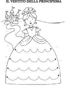 princess trace line worksheet   Crafts and Worksheets for Preschool,Toddler and Kindergarten