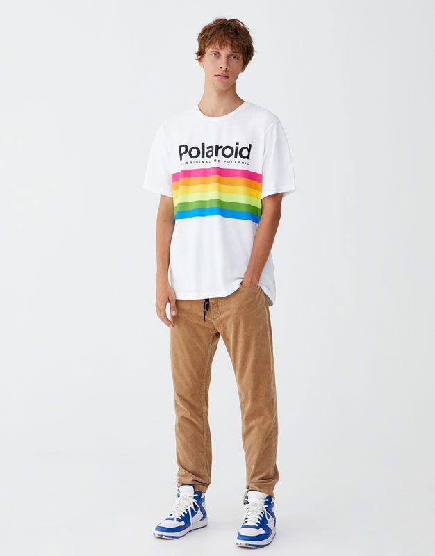 242a8a94 Camiseta Polaroid logo - PULL&BEAR | summer | T shirt, Mens tops, Logos