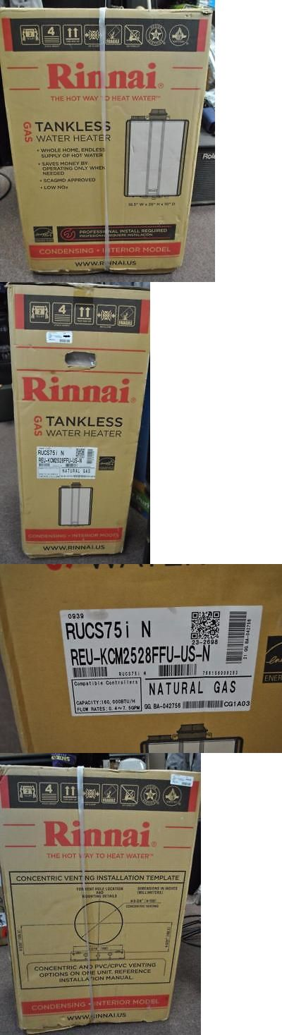 Tankless Water Heaters 115967: New Rinnai Ultra Series Natural Gas Tankless Water Heater Rucs75in White -> BUY IT NOW ONLY: $799.99 on eBay!