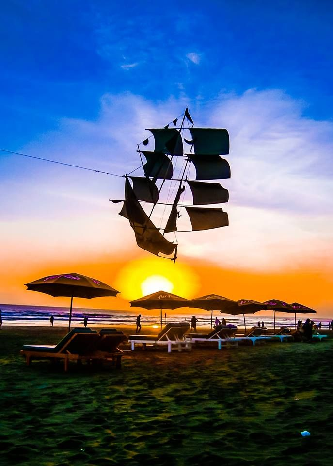 Photo I took of a kite while the sun was setting..
