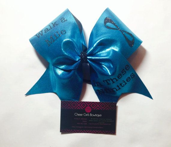 Walk a Mile In These Nfinities Cheer Bow Nfinity Cheer Bow Nfinity Cheer Shoes Nfinity Symbol on Etsy, $13.99