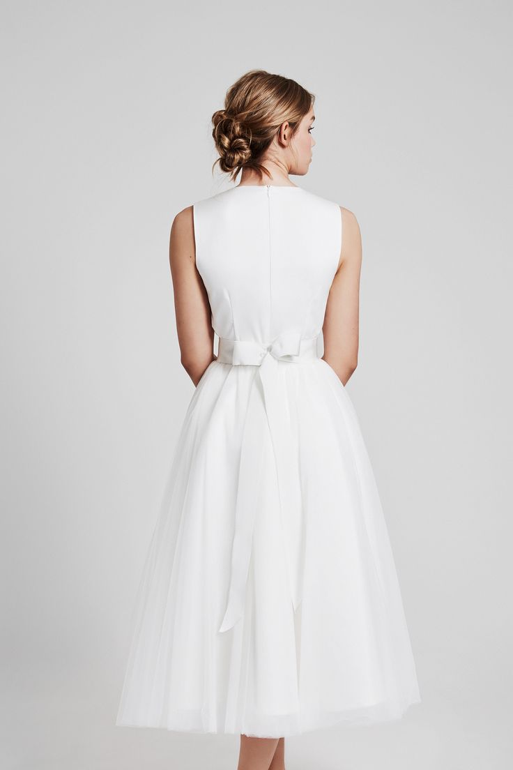 Tulle skirt ivory - ankle lenght - love - complete your outfits with a white ribbon belt