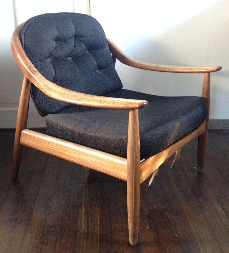 Vintage Danish Chair 1 of 2 Mid Century Possibly Hans Wegner Upholstry Needed