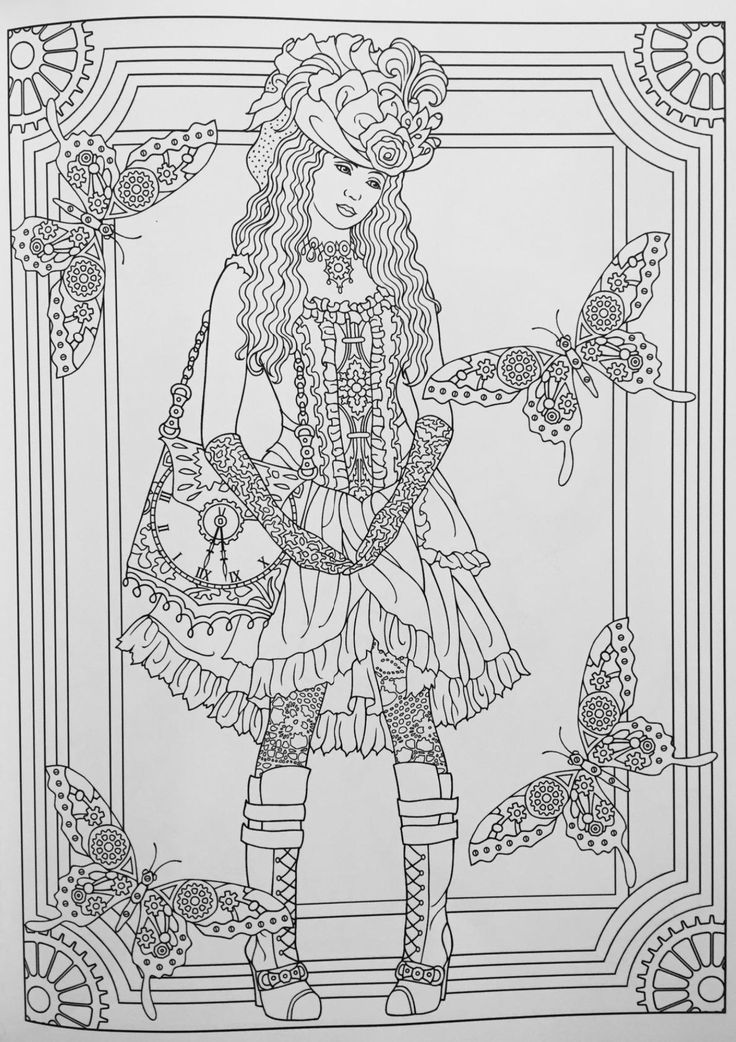 creative haven steampunk fashions coloring book creative haven coloring books marty noble