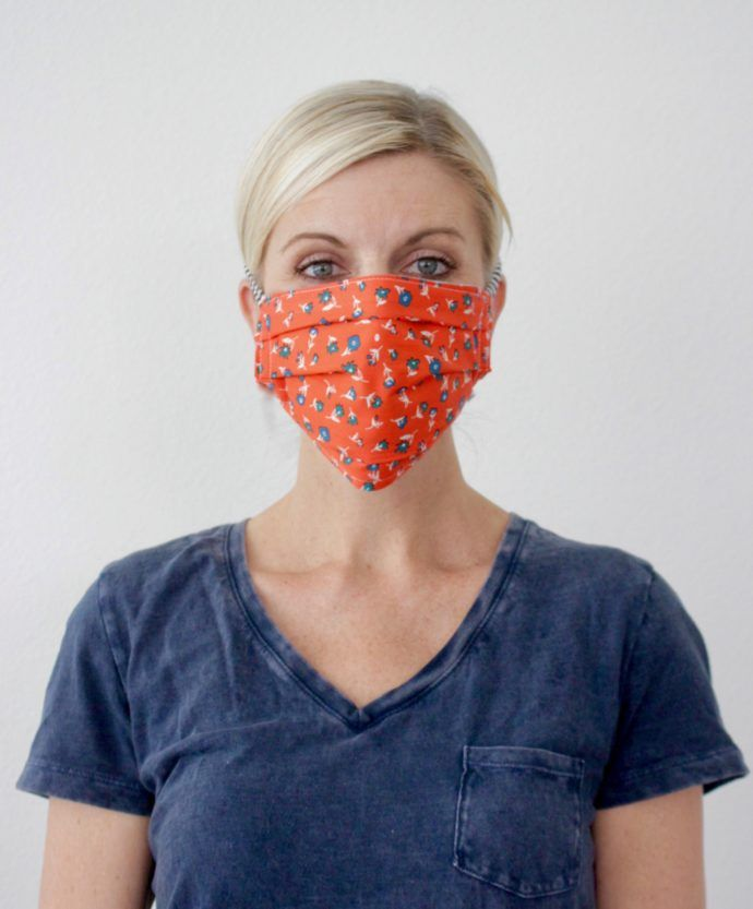 Fabric Face Mask With Ties In 2020 Face Mask Tutorial Easy Face