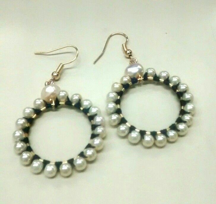 Aretes con perlas