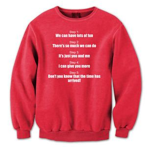 Step By Step Nkotb Rules funny  80s  dance  humor  retro Red Crewneck Sweatshirt
