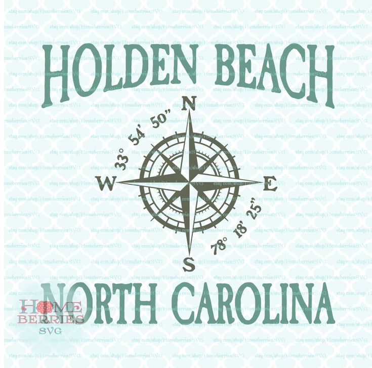 Holden Beach North Carolina Nautical Location Vacation Spot Family Vacation svg dxf eps jpg ai files for Cricut Silhouette & other machines by HomeberriesSVG on Etsy
