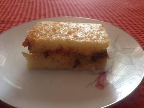 Fabulosa receta para Polenta criolla venezolana. Es una especie de pastel horneado a base de masa de maíz, relleno con un guiso especial, básicamente Caraqueño.