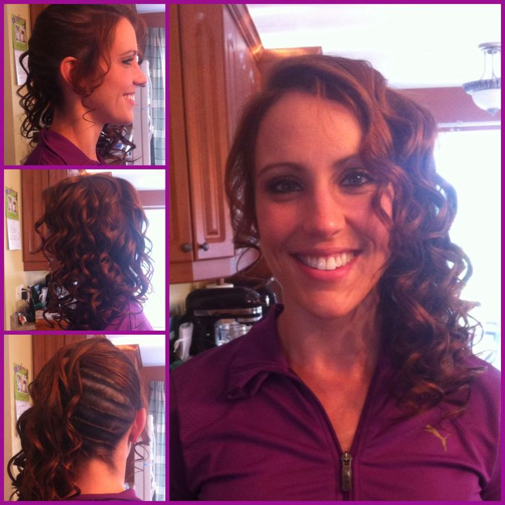 Hairstyle - Twist in meduim brown hair for a special occasion