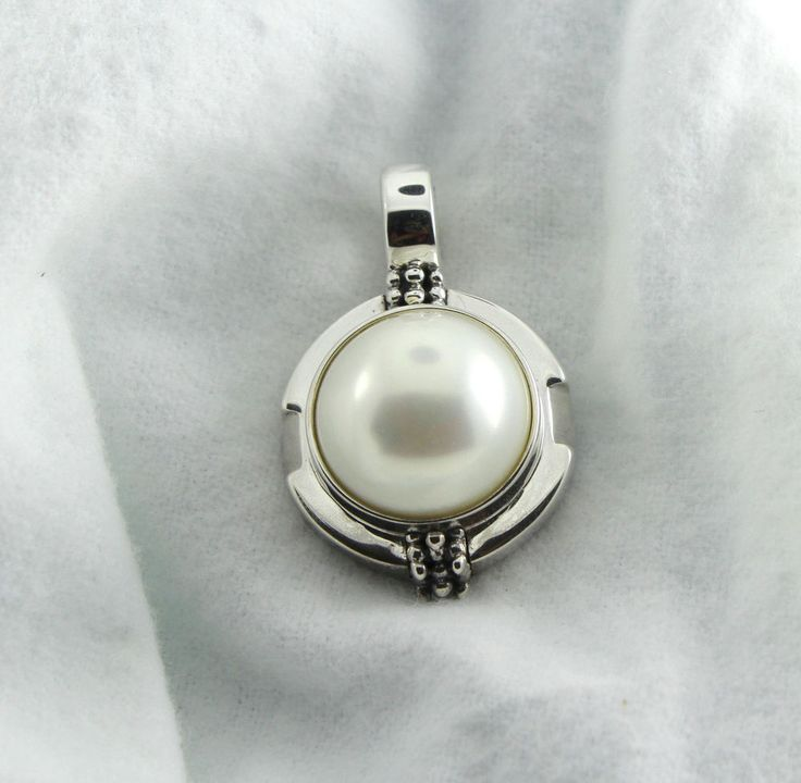 Michael Dawkins 925 Silver Simulated Pearl Pendant Enhancer RETIRED + FREE GIFT #affinitygold #Enhancer