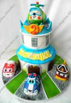 Торт для мальчика - Поли робокар