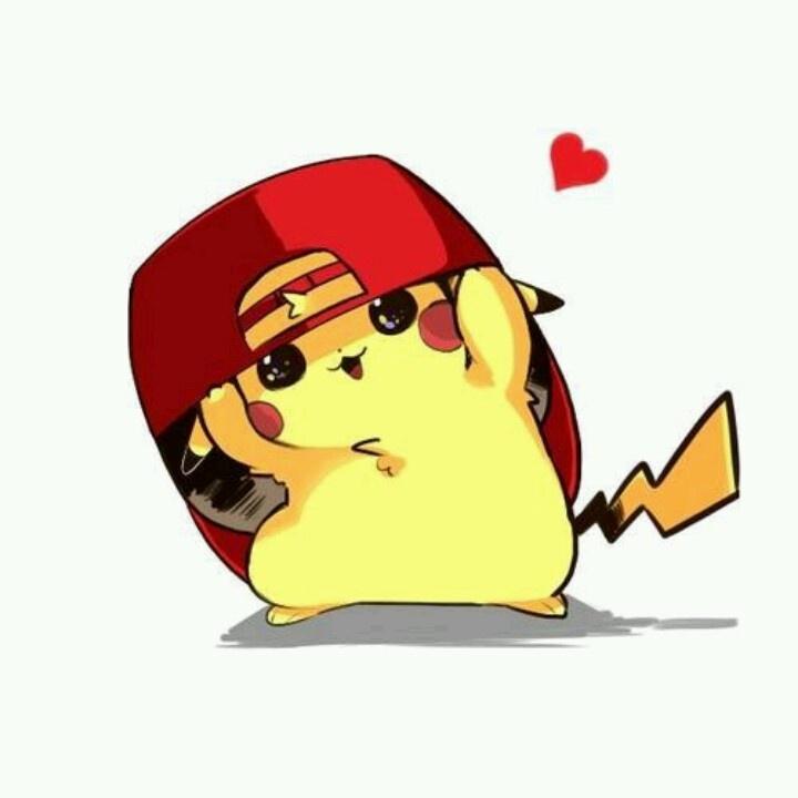 Pikachu wearing Ash's hat #cute #pokemon #art