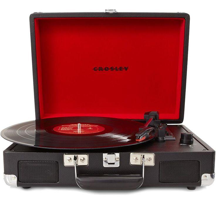 Vitrola Portátil Crosley Cruiser - Preto -Eletrônicos - Toca discos - Walmart.com
