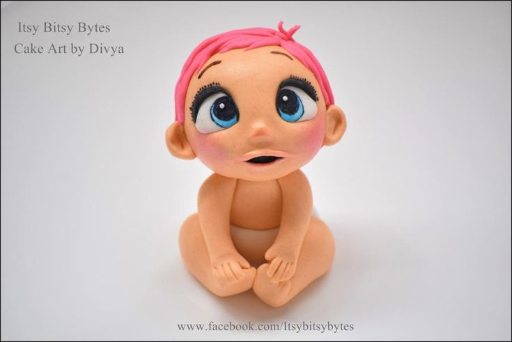 Baby from 'storks' movie made in fondant by Divya Haldipur