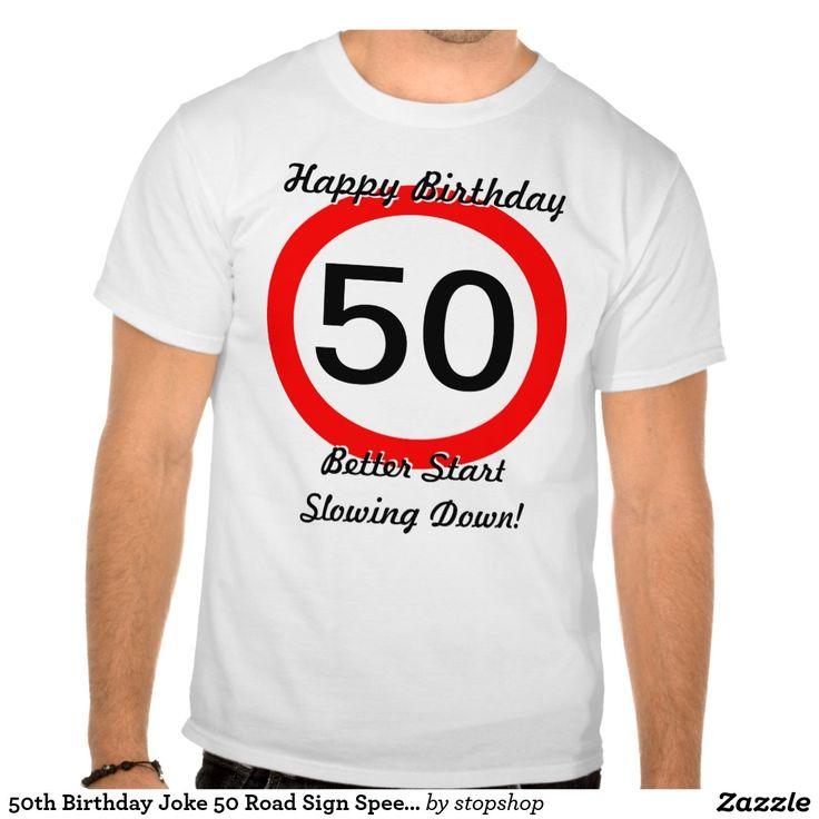 50.o Límite de velocidad de la señal de tráfico de Camisetas