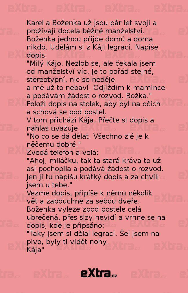 Nakonec si udělal srandu on zní! (zdroj: Extra.cz)