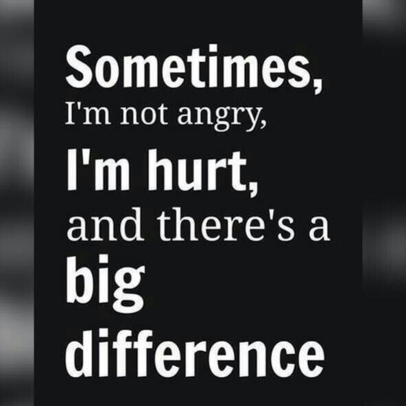 Angery Words Quotes Pictures: Sometimes Im Not Angry Im Hurt..