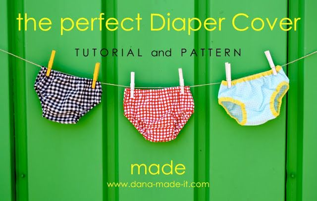 Free sewing pattern and tutorial for diaper cover 0-24 months --- This will be cute with a monogram and ruffles on it!
