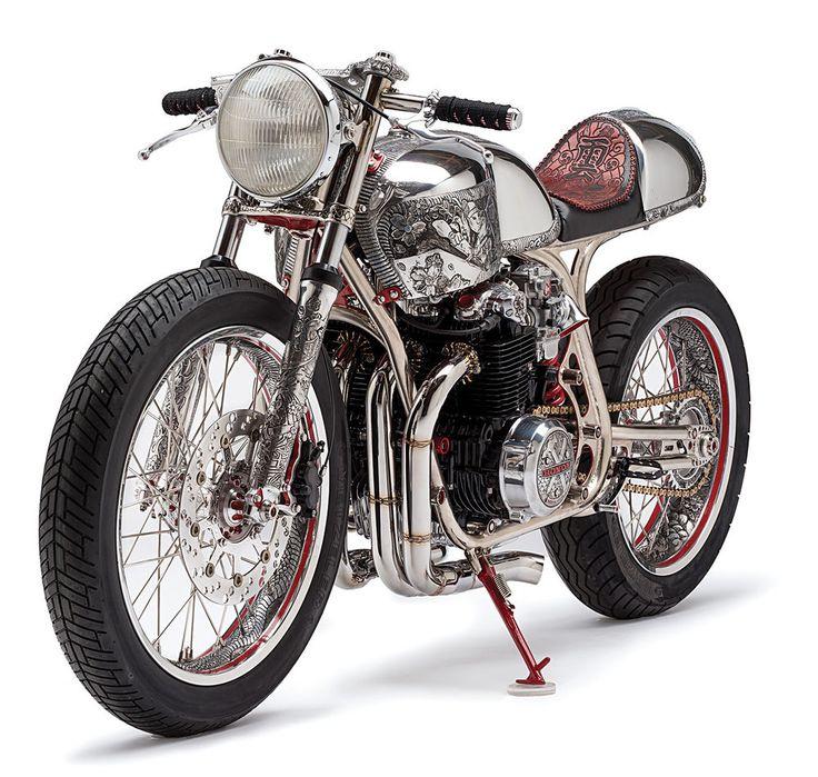 Shogun custom motorcycle studio front 3/4 view