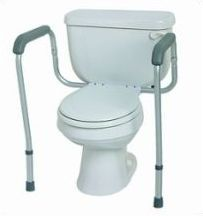 Handicap Toilet Bars Safety #HandicapToilets >> Find more tips for disabled toilets at http://www.disabledbathrooms.org/handicap-toilets.html