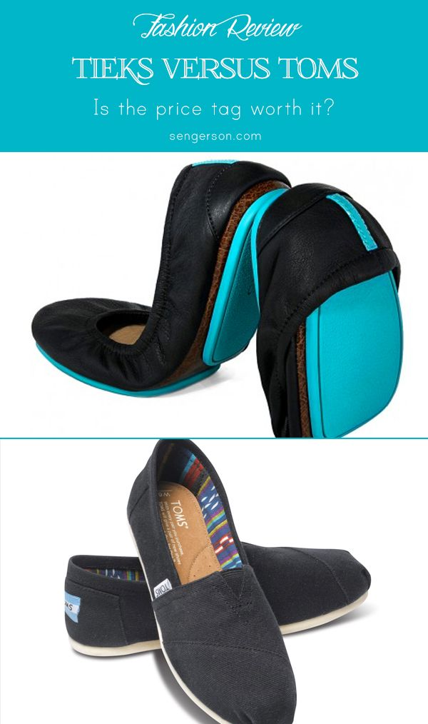 Tieks versus Toms. Although the prices are different, which is more comfortable? Are Tieks worth the hefty price tag? Review from a wedding photographer who is on her feet all the time - sengerson.com.