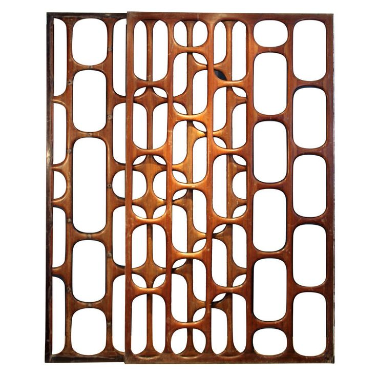 México  1950s  Fantastic and unique wooden screen from the best of Mexican Modernism era. Made for a house in Pedregal, Mexico City during the 1950s, this screen consists of three separate pieces that go intertwined. The resulting geometric figures are impressive. Very rare, since most of the houses of Pedregal of the time have been either demolished or remodelled, loosing all the original furnishings. And very representative of that specific time and style in Mexico: México 1950S, Wooden Screens, Mexicans Modernist, Mid Century, Rooms Dividers, 1950 S, Modernist Screens, Midcentury, 1950S Wooden
